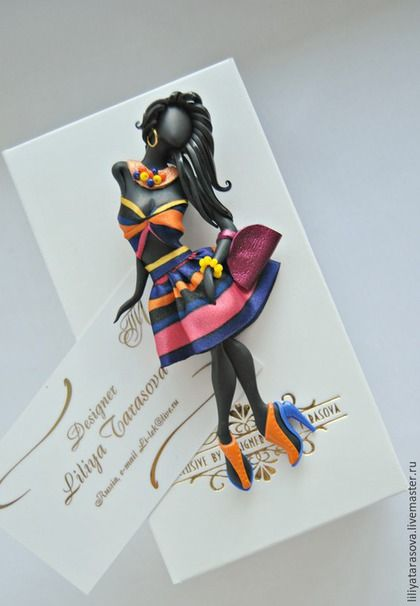"""Купить брошь """"Доминика"""" - разноцветный, подарок девушке, подарок женщине, модный аксессуар, оригинальный подарок"""