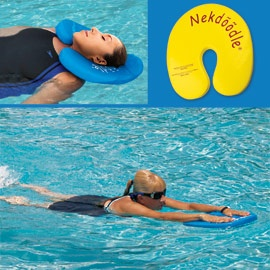 Exercise or relax in the pool with Neckdoodle.