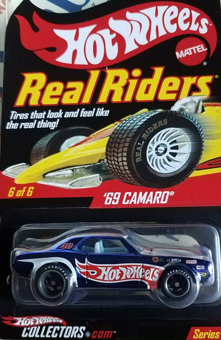 1969 Camaro / Hot Wheels 40th Anniv. Real riders. Hot Wheels race team.  Series 7, 2008 production year
