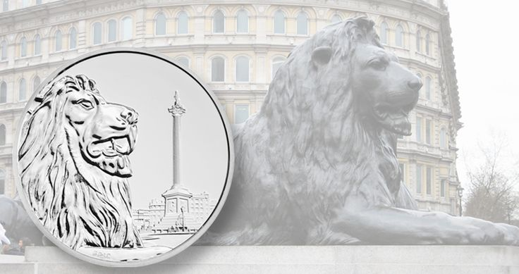 The Royal Mint's third silver £100 coin in a series sold at face value honors Trafalgar Square.