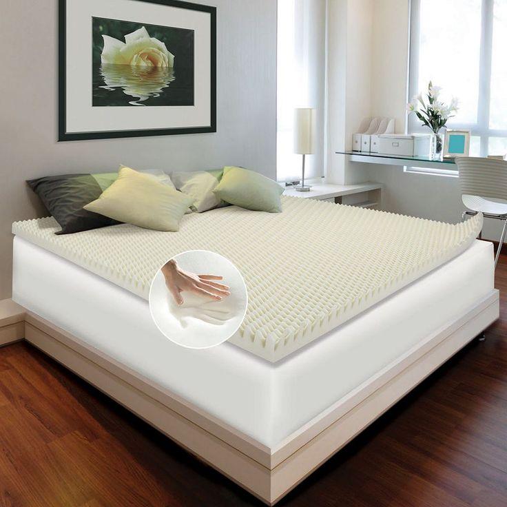 Enhance Comfort Loft 4-in. Memory Foam Mattress Topper, Multicolor