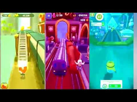 Learn Colors With Talking Tom Gold Run - Subway Surfers - Minion Rush Co...