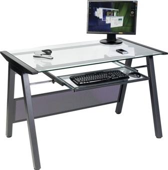 Bench Glass Computer Workstation