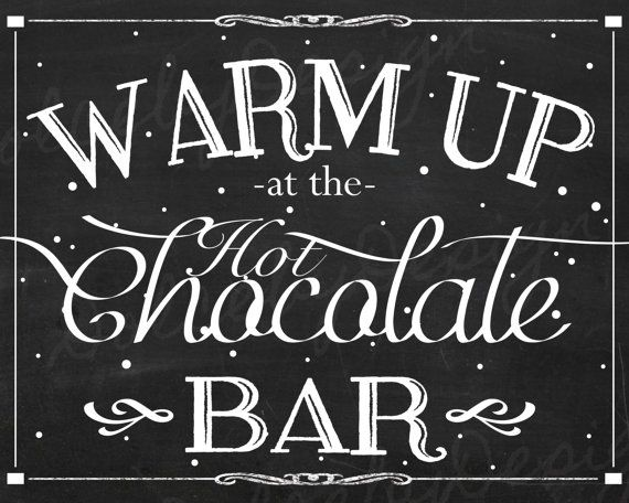 Instant Download Printable Hot Chocolate Bar Sign Hot