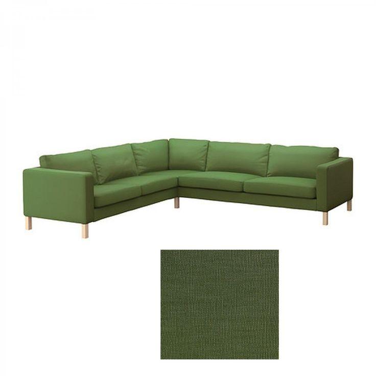 Karlstad Corner Sofa Cover Green
