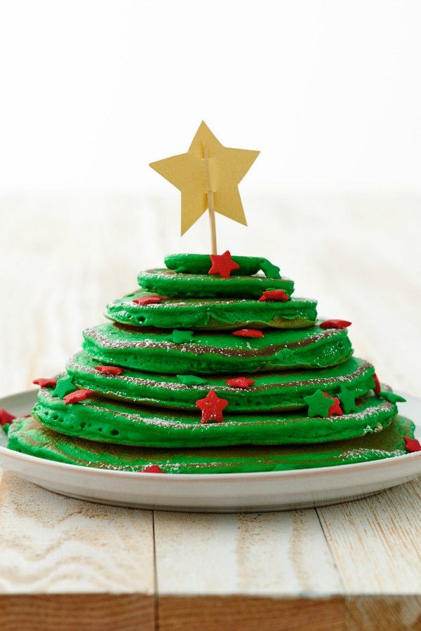 A fun and festive way to celebrate! Who can decorate their Christmas Tress Pancakes with the most holiday cheer?