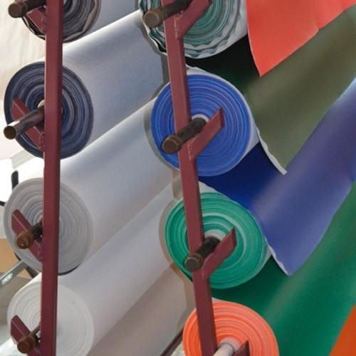 Marine Vinyl fabric Rolls on Rack