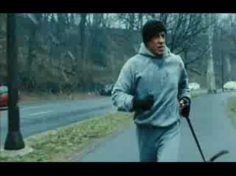 Rocky Balboa - Training & run up Art Museum steps.