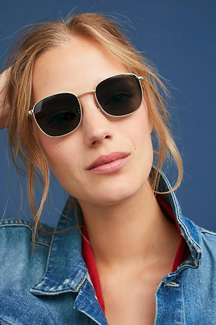 d6e8ef7aaf3 Anthropologie - Le Specs Neptune Round Sunglasses. Available in black