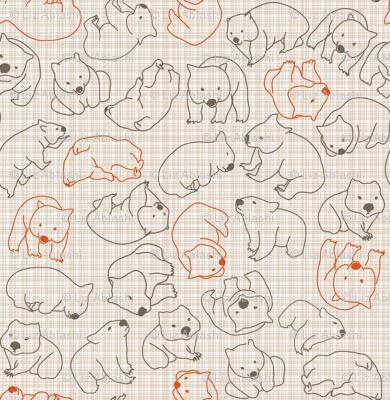 wombat print FABRIC. cute!