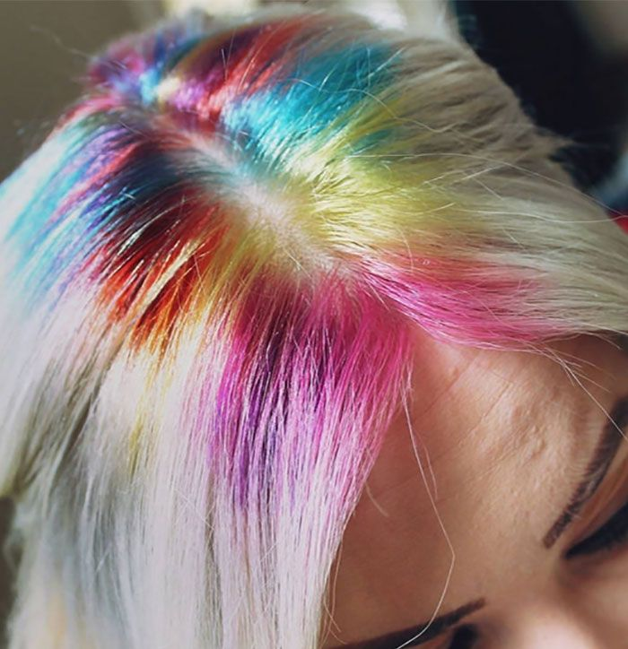 Rainbow Roots Is A Cool New Hair Trend