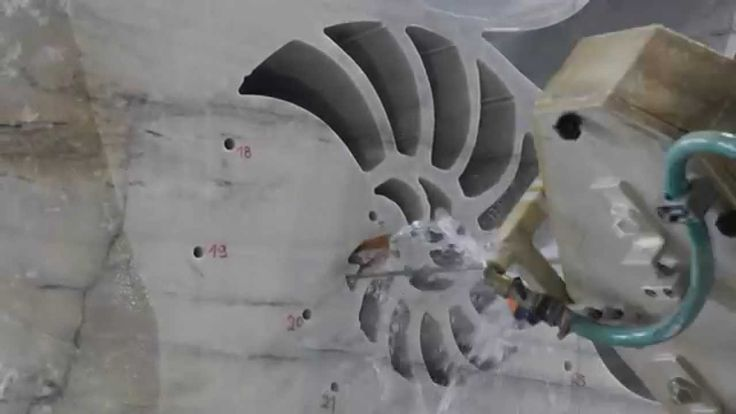 Video #Breton FUEGO MULTIAXIS of Kienesberger Naturstein while is realizing a a...