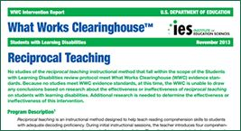 What Works Clearinghouse- research based programs that work!!