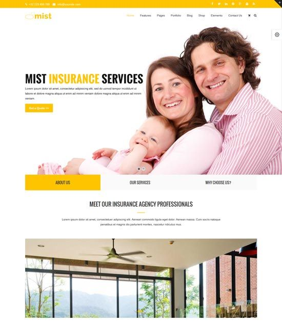 25+ Insurance Company Wordpress Themes In 2016