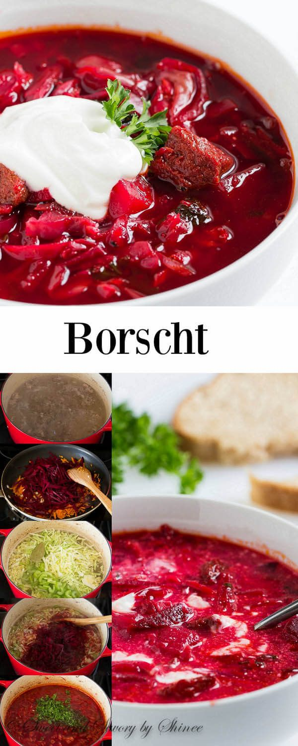 Classic beef borscht recipe that you'll come back to over and over again. Simple ingredients, classic method and authentic taste! You don't want to pass on this soup.