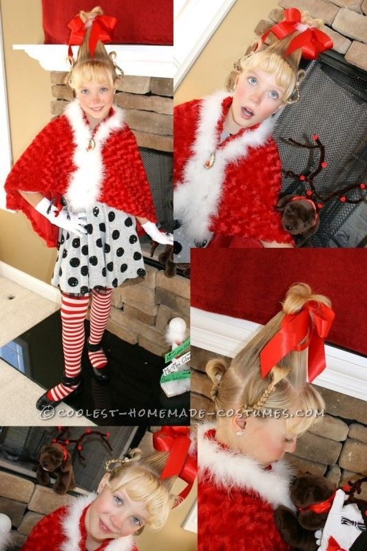 Cool Cindy Lou Who Homemade Girls Halloween Costume