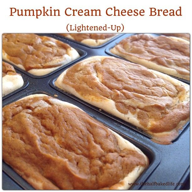 Pumpkin Bread Surprise - A lightened up Pumpkin Cream Cheese bread that everyone will love!!