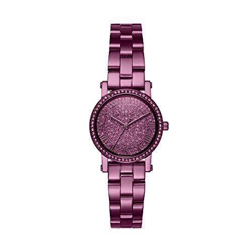 Michael Kors Womens Petite Norie Quartz Stainless Steel Casual Watch ColorPurple...