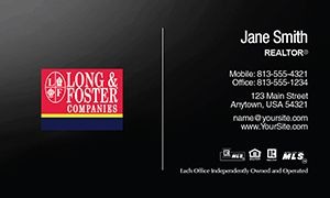 Long & Foster Real Estate Business Card Template 13
