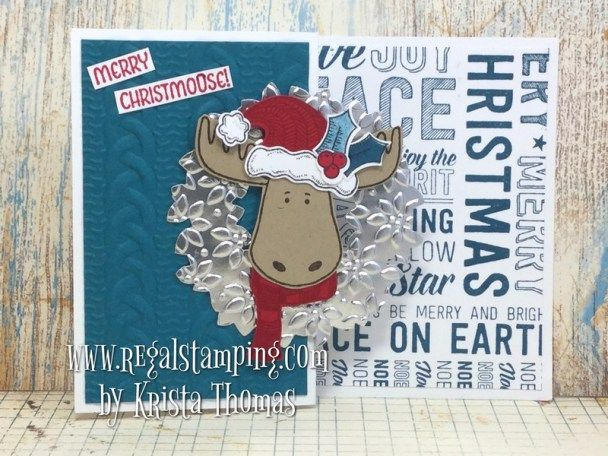 Merry Christmoose by Krista Thomas, www.regalstamping.com, all products by Stampin' Up!