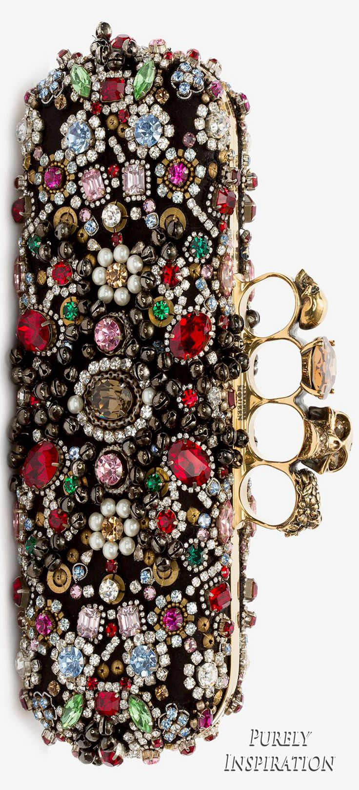 Alexander McQueen Jeweled Knuckle Box Clutch | Purely Inspiration