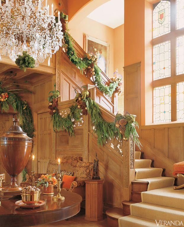 Holiday decor by Mary McDonald.  Holiday Decor in Veranda  Pinterest