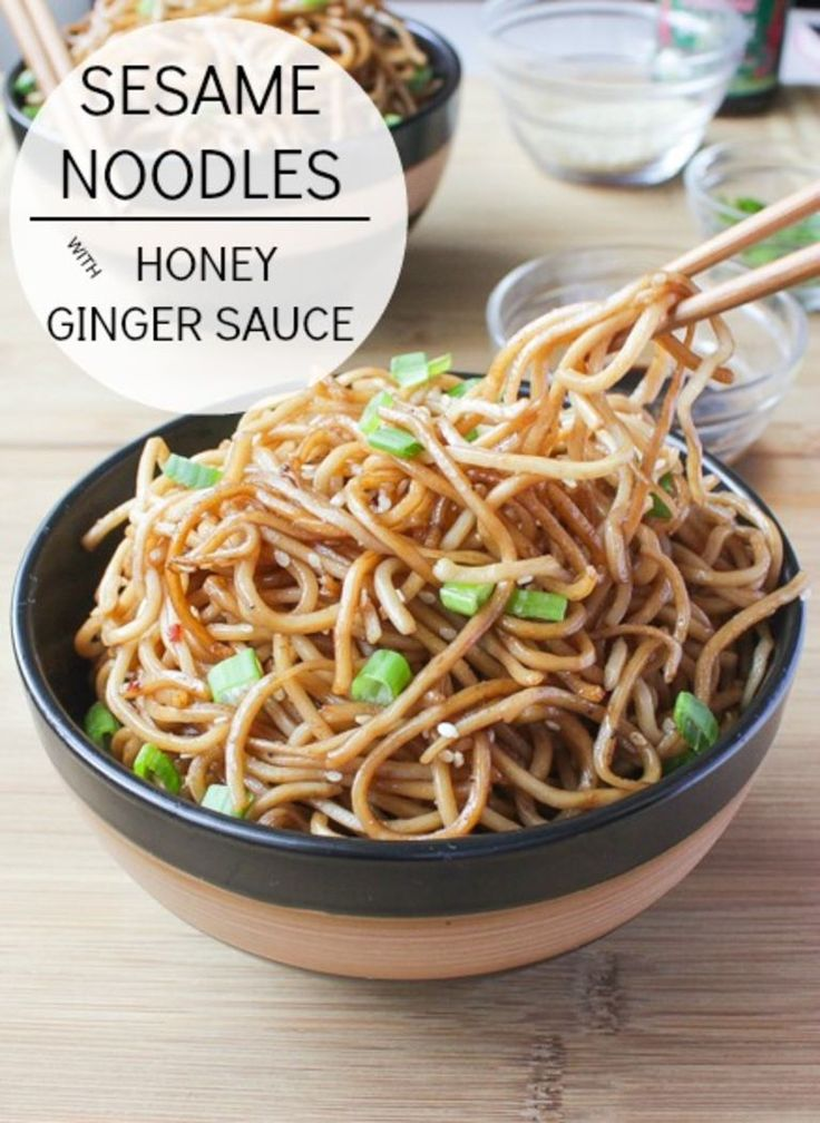 Sesame Noodles with Honey Ginger Sauce