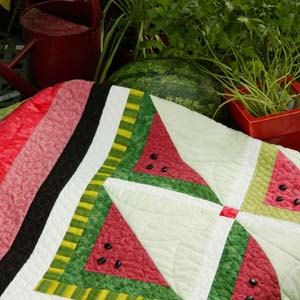 Sweet and Juicy Summer Picnic Quilt 61 1/2'' x 61 1/2'' Quick and Easy Pattern only 2.99