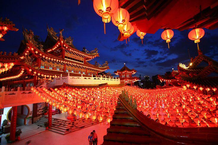 lanternes rouges à l'occasion du nouvel an chinois