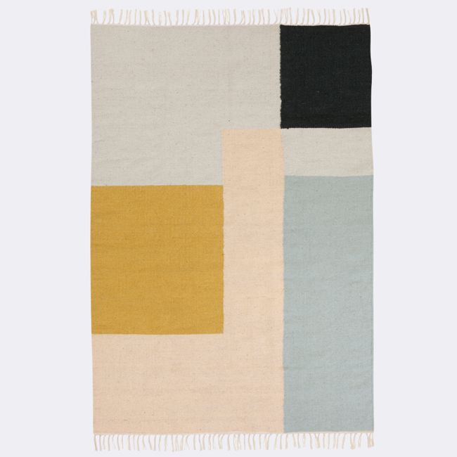 Nordicthink - Kilim Squares lana y algodón | Ferm Living