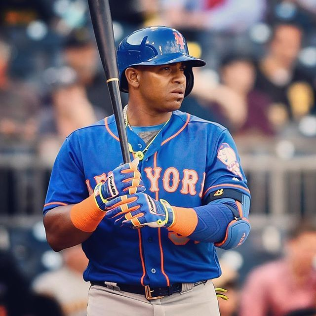 Oh yeah. Yo is back in the starting lineup.  #LGM #YoenisCespedes #LaPotencia #MLB #Mets #SoManyColors