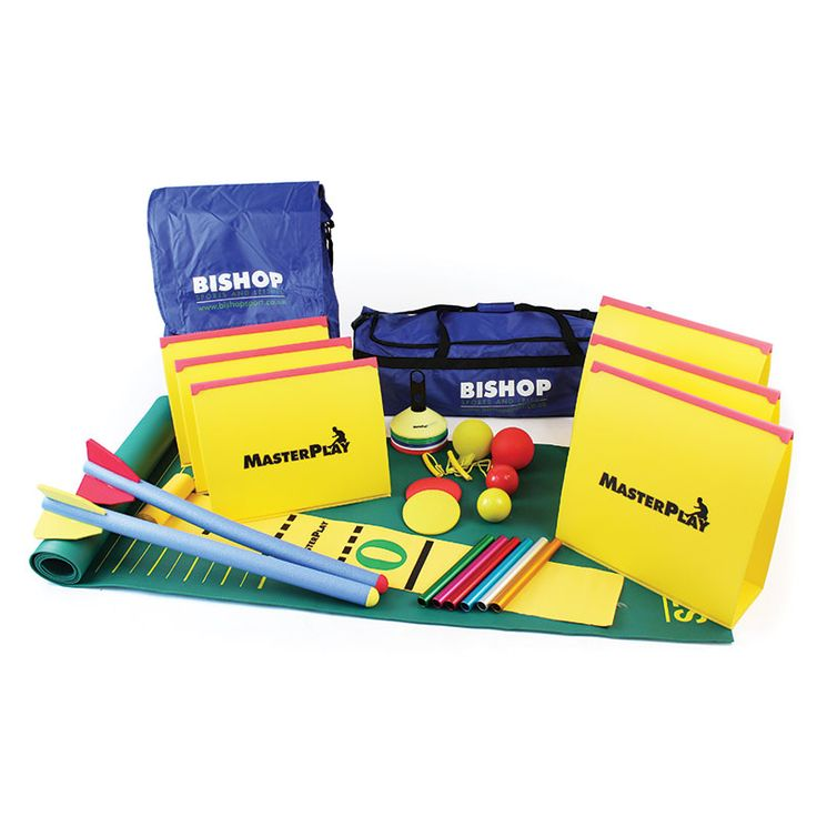 A fantastic comprehensive athletics starter kit which contains standing long jump mat, space markers, foam javelins, hammers, shots and discuses, measuring mat, six different height folding hurdles and relay batons.