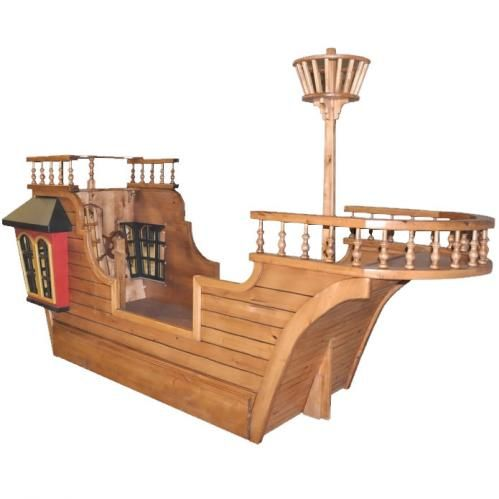 Pirate Ship Theme Bed With Eagle 39 S Nest And Trundle Bed