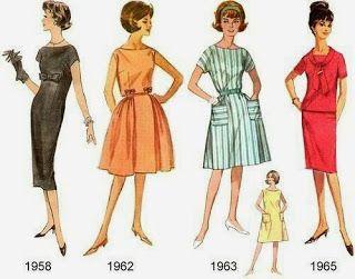 Мода разных лет XX века.