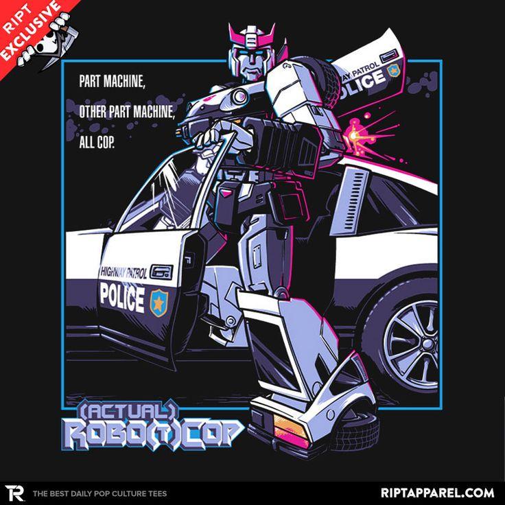 (Actual) Robo(t)Cop T-Shirt - Transformers T-Shirt