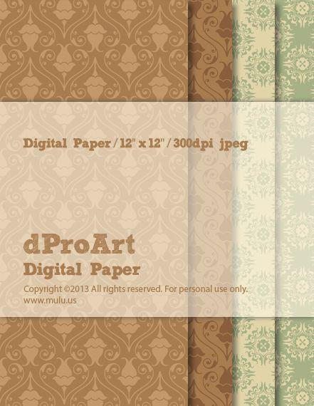 Baroque 02 Digital Paper by dProArt at www.mulu.us