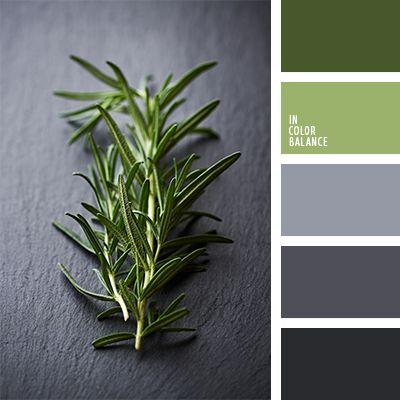 colores de la hierba, elección del color para el diseño, gris claro, gris grafito, gris oscuro, gris y verde, matices del verde lechuga, paleta de colores para diseñadores, selección de colores para diseñadores, selección de colores para el diseño, tonos grises, tonos verdes, verde y