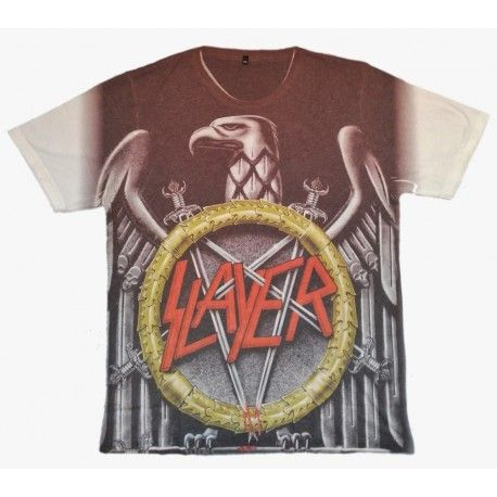 Tricou Allover Slayer: Silver Eagle