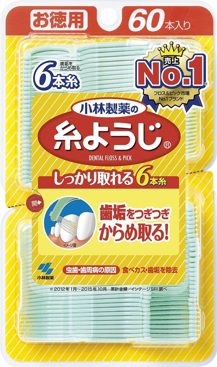 Amazon.co.jp:小林製薬の糸ようじ フロス&ピック デンタルフロス 60本:ドラッグストア