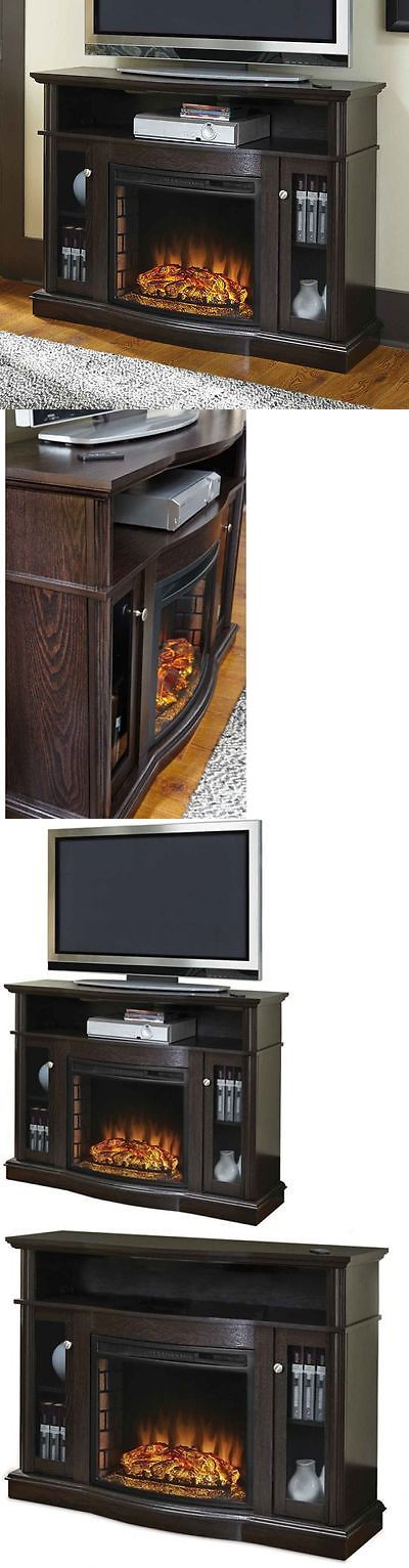 Fireplaces 175756: Electric Fireplace Tv Stand Media Console Heater Entertainment Center Wood New -> BUY IT NOW ONLY: $305.37 on eBay!