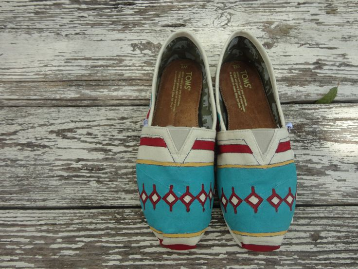 Custom hand painted TOMS, South by Southwest. $55.00, via Etsy.