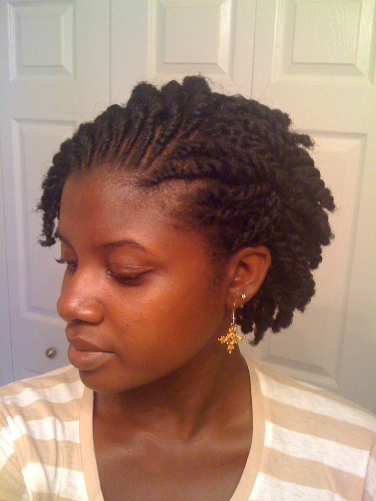 Instagram : naturallybrandyysmith Natural hair flat twist