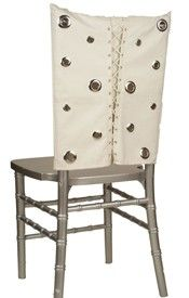 White Leather Corset With Grommets Chair Sleeve Cover