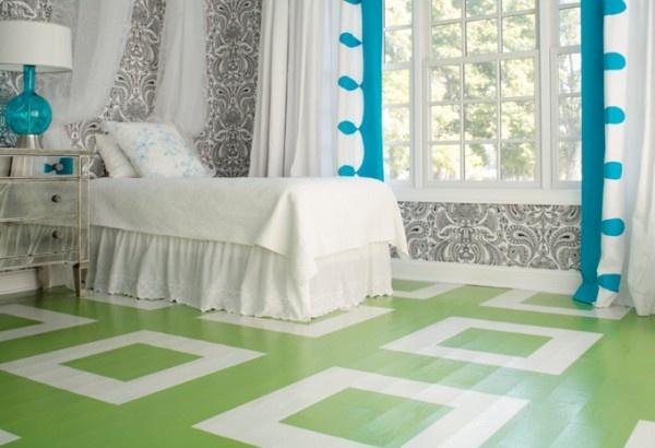 floor: Decor, Ideas, Paintings Wood Floors, Paintings Floors Design, Colors, Painted Wood Floors, House, Rooms, Painted Floors