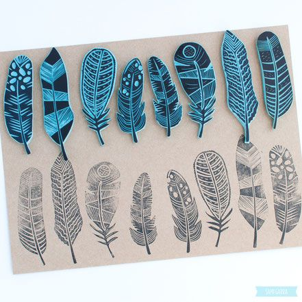 Tampons plumes / Feather stamps