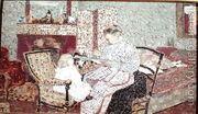 Woman Feeding a Child (Annette, daughter of Ker Xavier Rouss...  by Edouard (Jean-Edouard) Vuillard