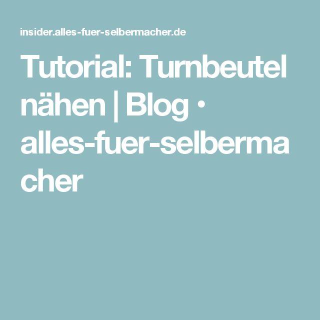 Tutorial: Turnbeutel nähen   Blog • alles-fuer-selbermacher