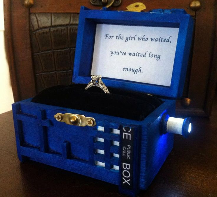 Police box Wedding Ring Box With LED Light Handmade Police Box Engagement Ring Box Police Box Proposal Box, Proposal Box, Made in USA by BelmouridaDesign on Etsy https://www.etsy.com/listing/229741379/police-box-wedding-ring-box-with-led