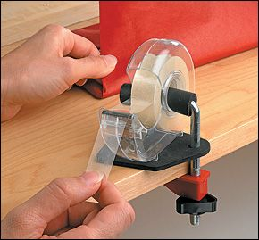 Tape Clamp, The Gift Wrapper's Assistant - Lee Valley Tools Great for children's art projects!