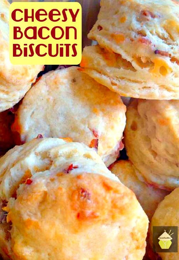 Cheesy Bacon Biscuits. These are a lovely light and fluffy biscuit with amazing flavors! Great served warm with your favorite chili, stew or simply on their own! #bacon #cheese #easyrecipe #biscuits